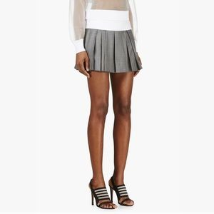 Alexander Wang Pleated Crosshatch Runway Skirt